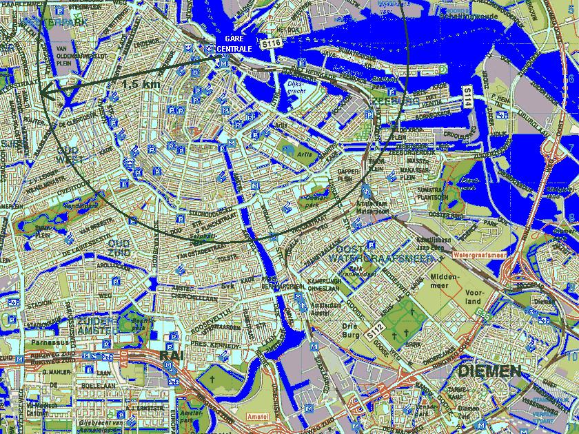 Visite Amsterdam Carte