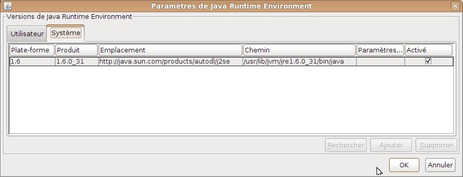 java classpath paramètre dans Ubuntu comment installer